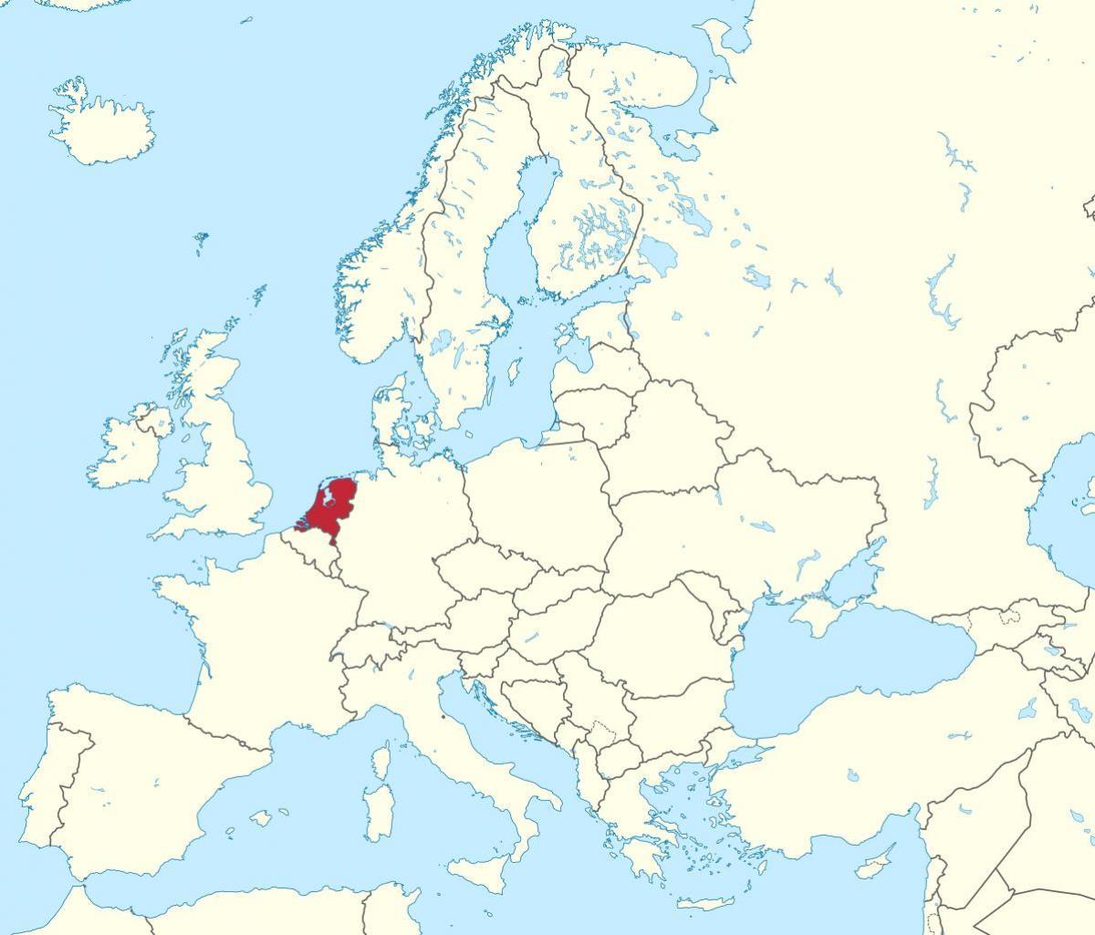 karta holland Holland europa karta   Holland karta i europa (Väst Europa   Europa) karta holland
