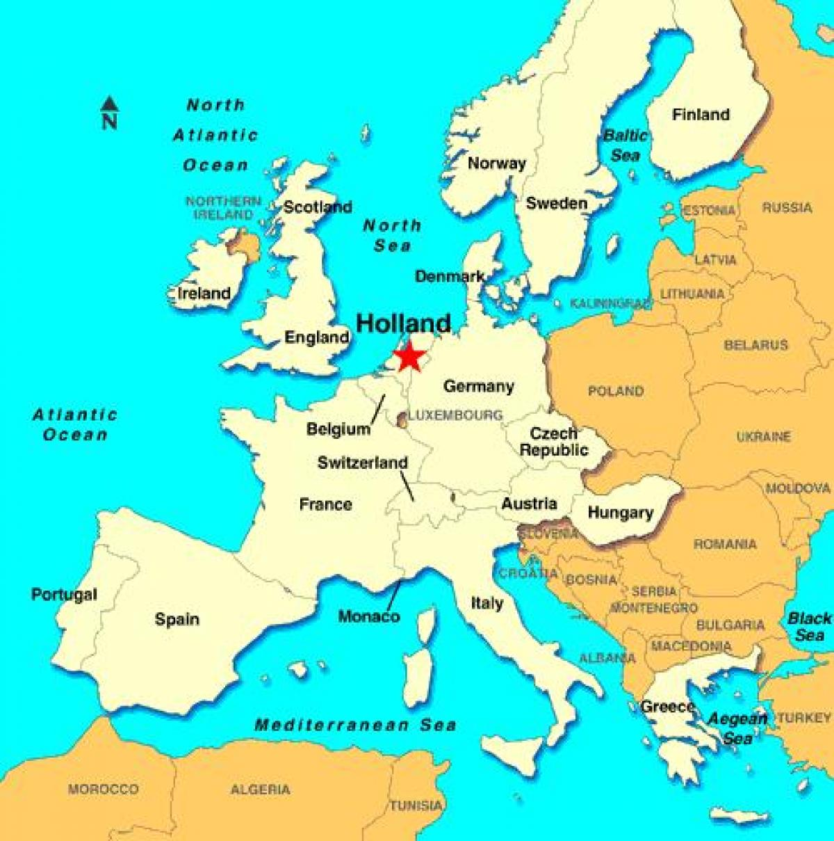 karta holland Holland karta europa   Karta över Holland europa (Väst Europa  karta holland