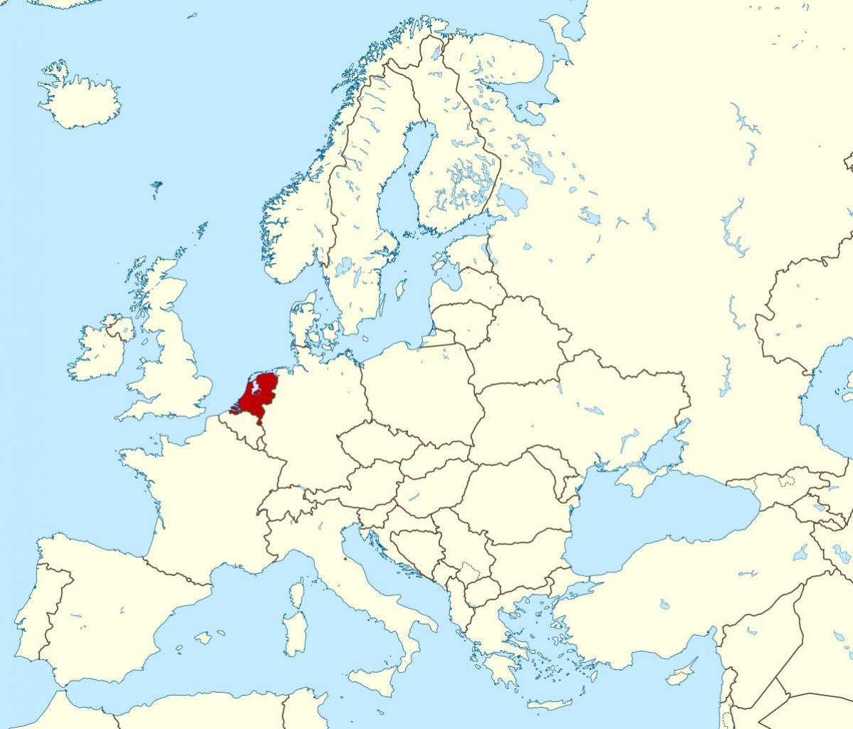 karta över västra europa Nederländerna Europa karta   Karta över Europa Nederländerna  karta över västra europa